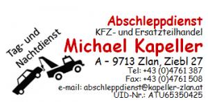 Abschleppdienst, KFZ- u. Ersatzteilhandel