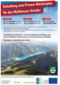 Erinnerung: 2. Workshop Masterplan Weißensee Ostufer